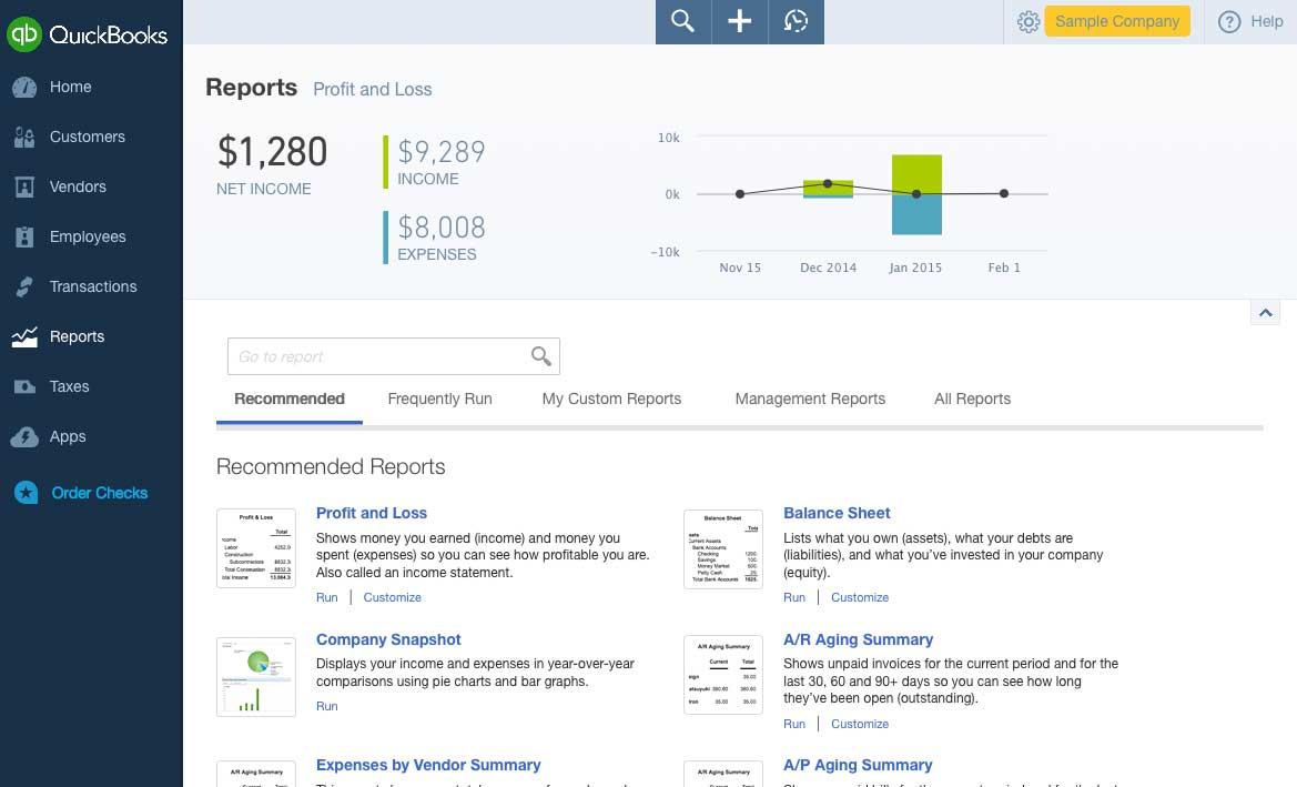 Reports Page Screenshot